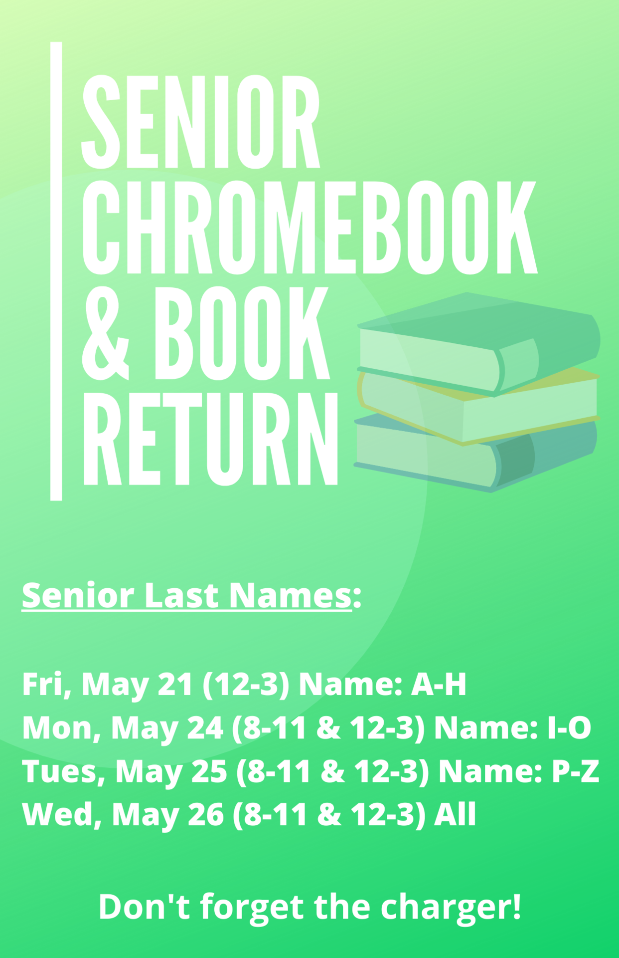 Senior Book Returns