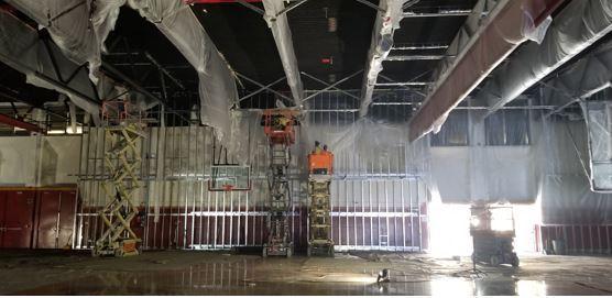 Hemet High Gym During Construction