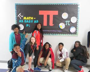 Pi Day bulletin board
