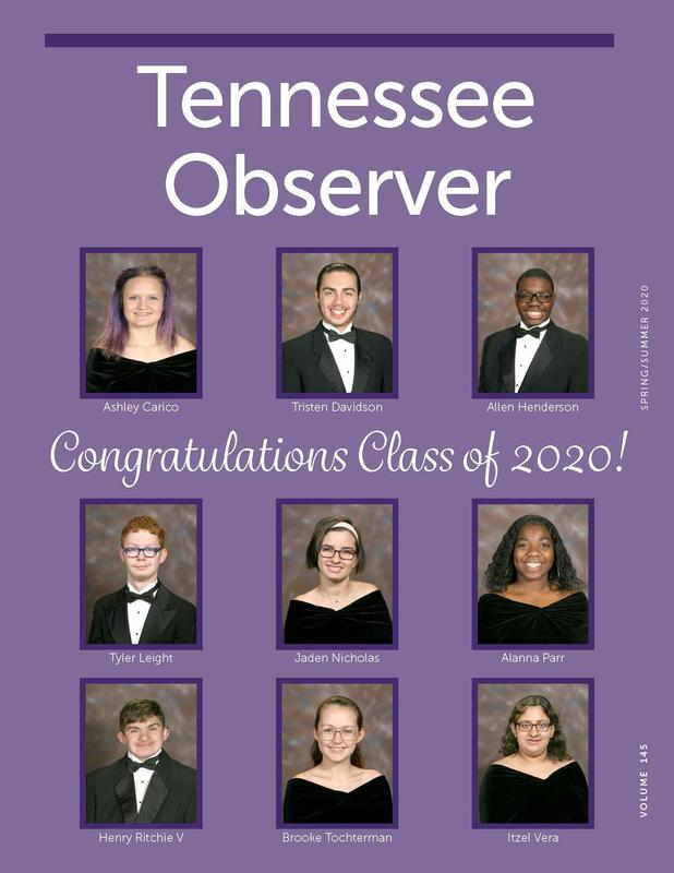 Tennessee Observer Spring/Summer 2020 Cover Page