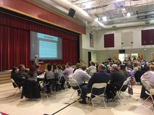 Community engaging in the Future Facilities Planning Meeting