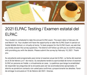 ELPAC Survey