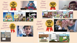 Pet awards collage and storyboards
