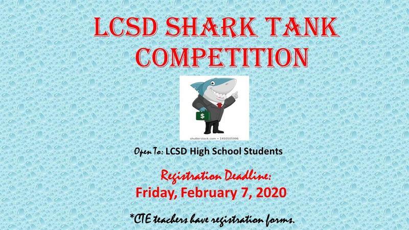 LCSD Shark Tank Registration Reminder