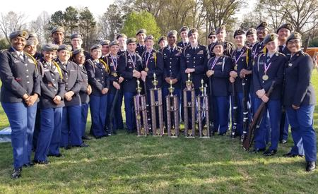 Lakeside High JROTC drill team state champions