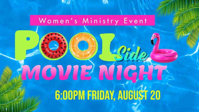 Women's Pool Side Movie Night Featured Photo