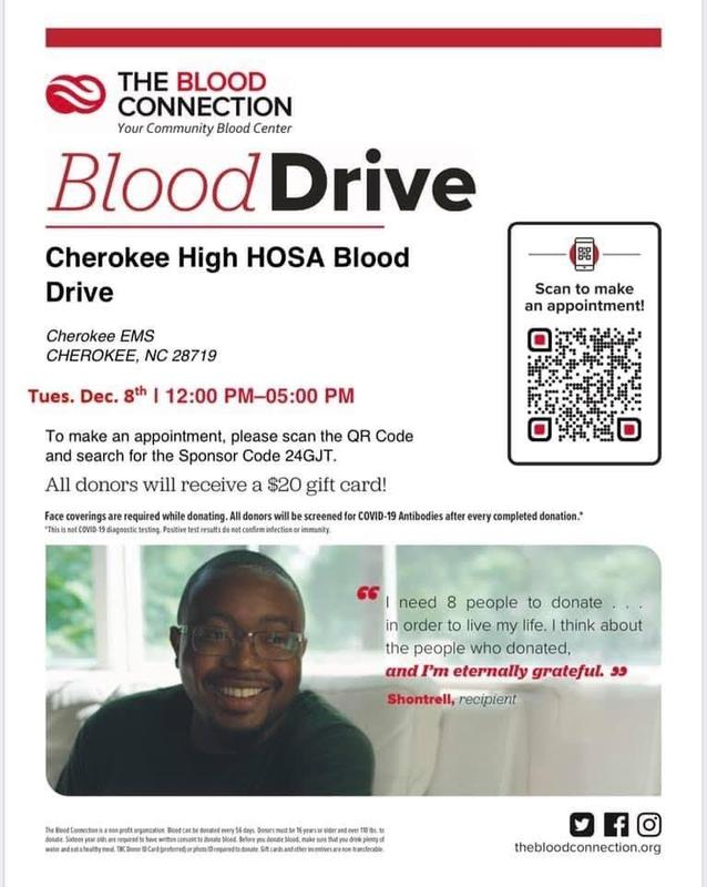 CHS Blood Drive flyer