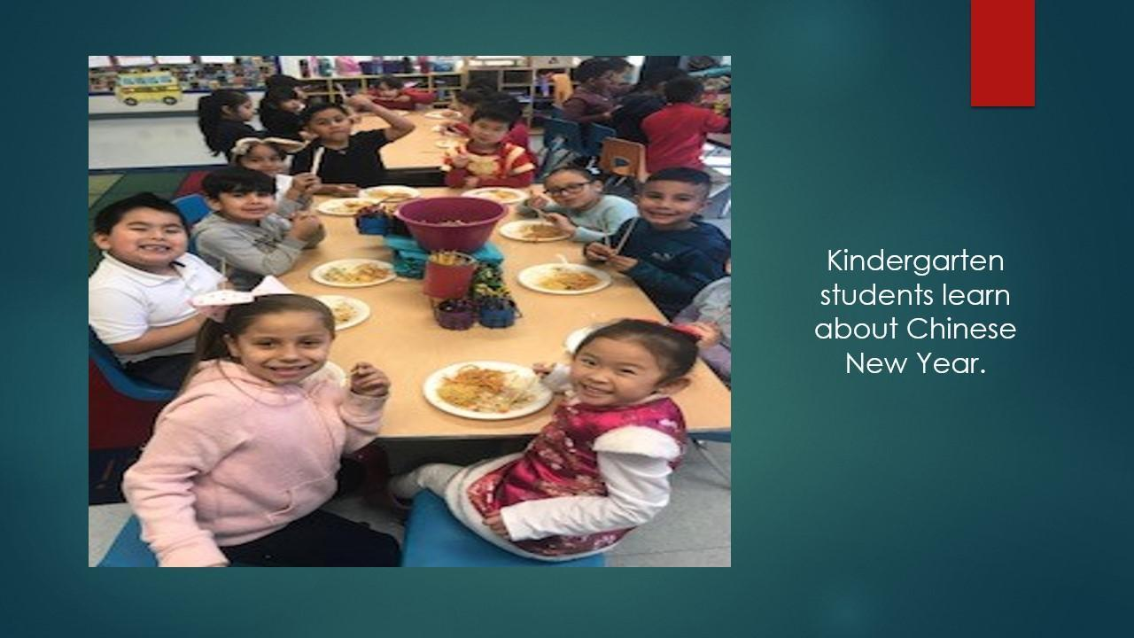 kinder students eating treats.