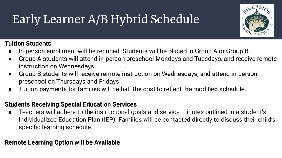 Early Learner A/B Hybrid Schedule
