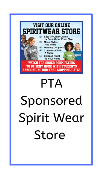 poster for PTA spirit wear store