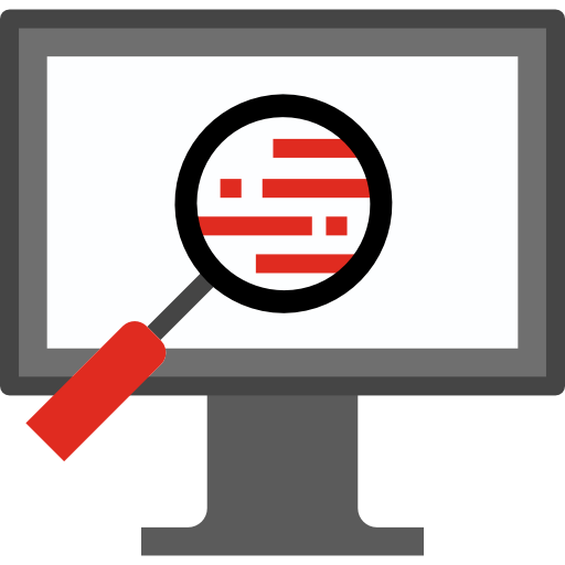 Image of library search logo