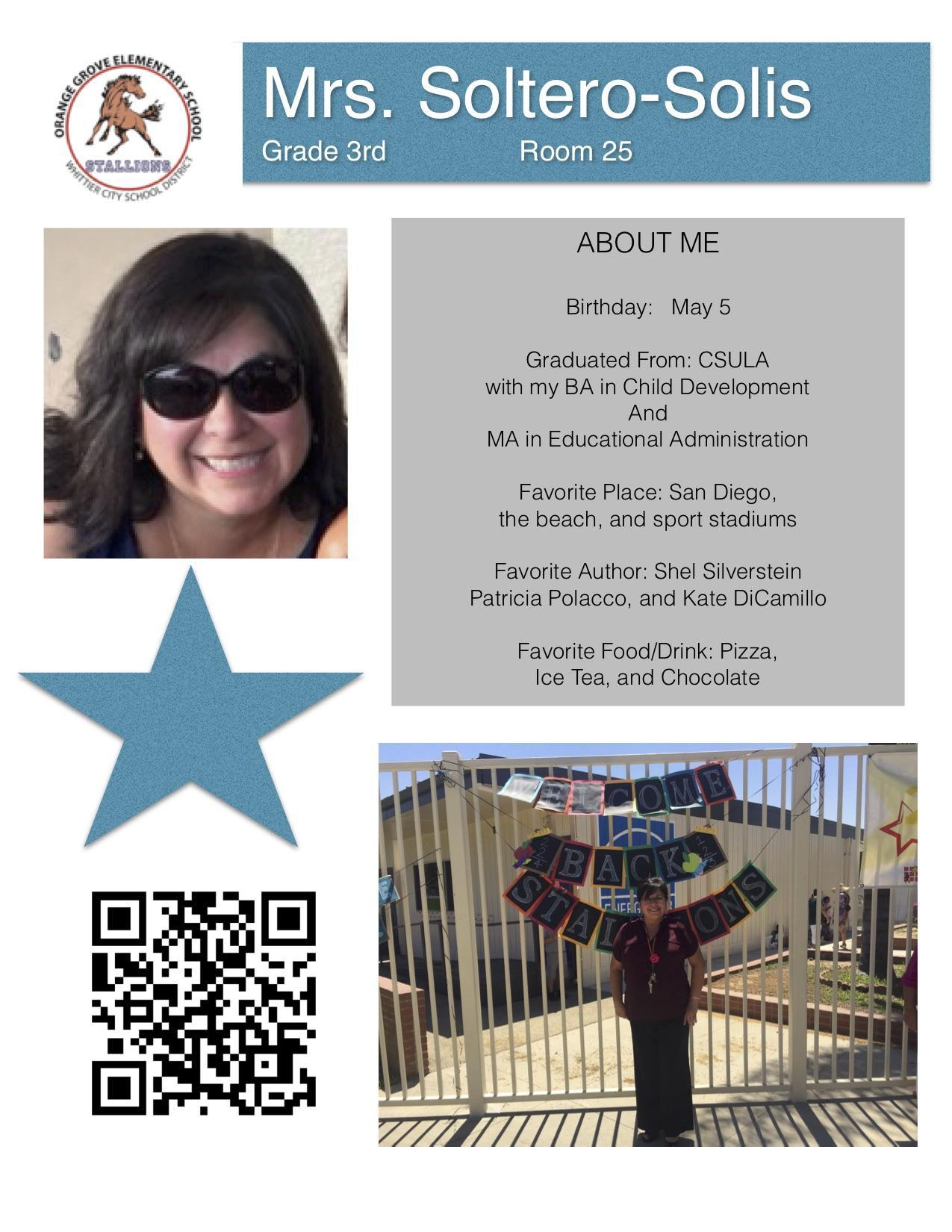 staff flyer for Mrs. Soltero-Solis