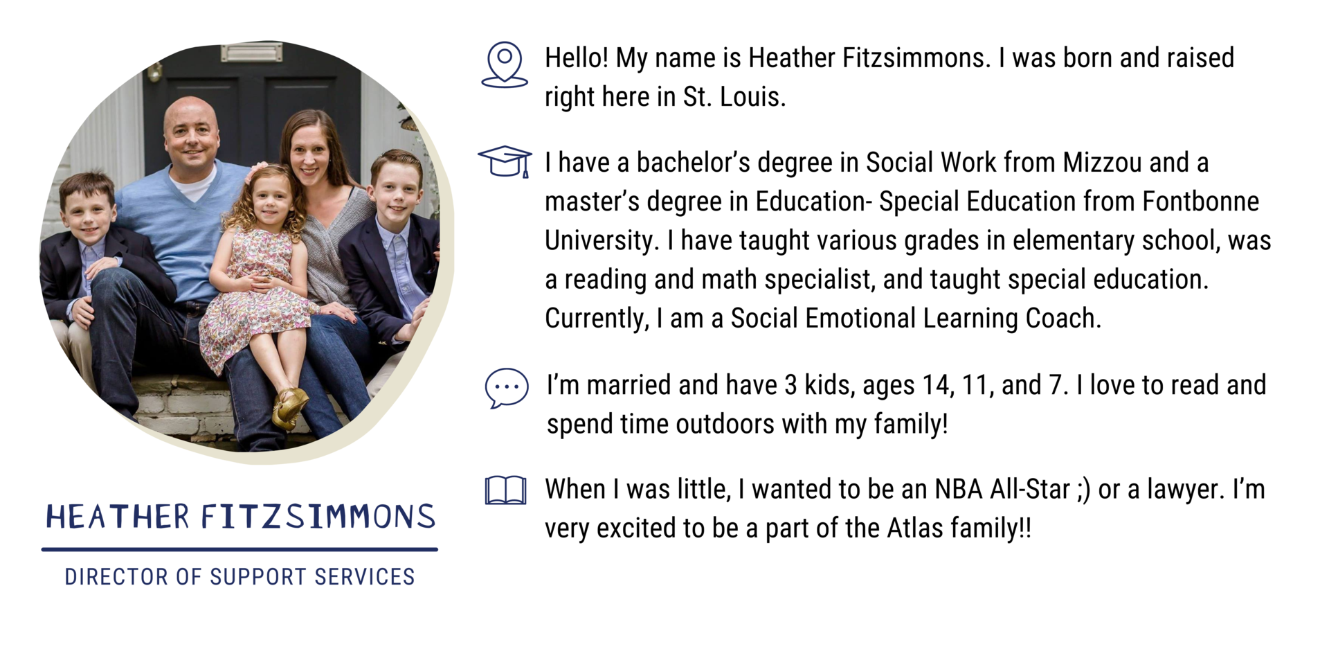 Heather Fitzsimmons, Director of Support Services