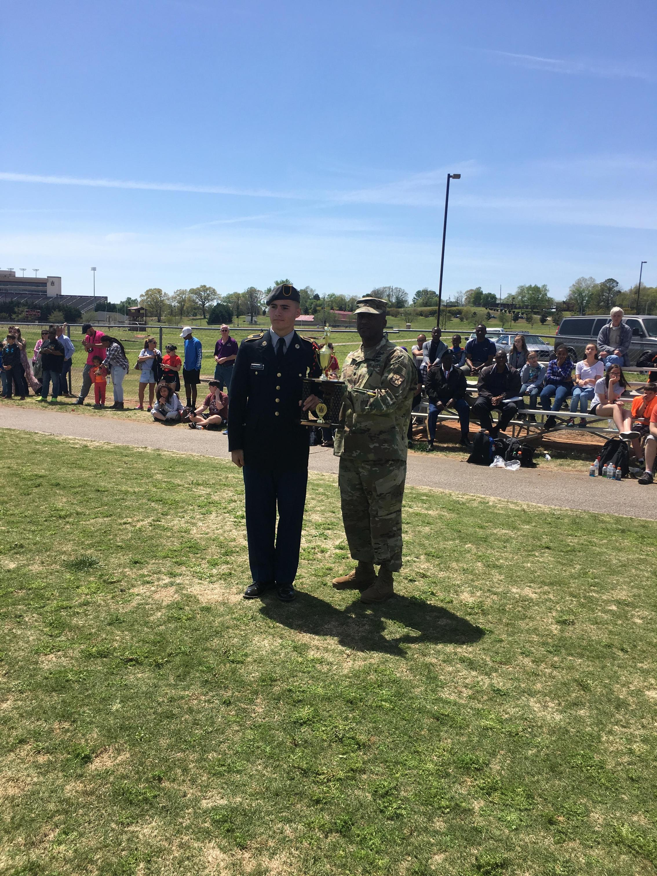 Award at Drill Competition