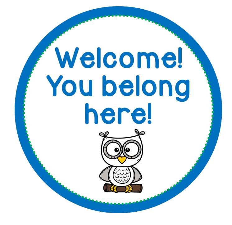 Welcome!  You belong here!