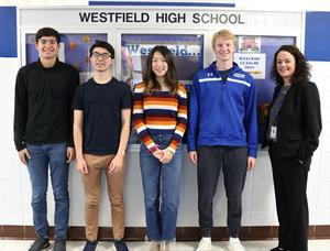 Congratulations to Westfield High School seniors Brad Hornbeck, Jeremy Kronheimer, Stephen Park, and Angela Wang for their perfect scores of 800 on the Math Level 2 portion of the October SATs.