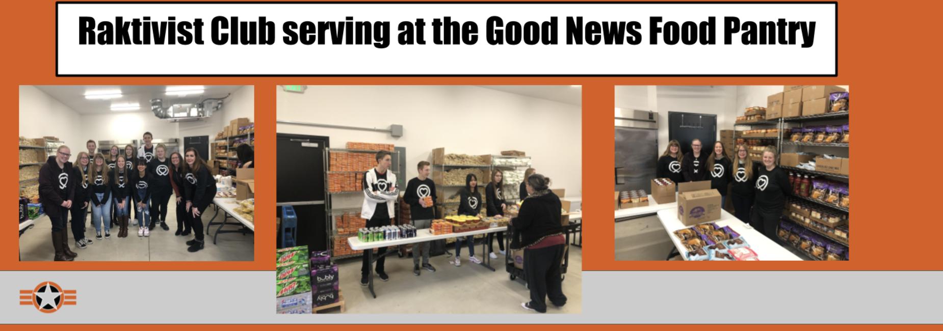 Raktivist Club serving at the Good News Pantry