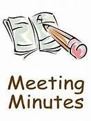 Pencil Writing Meeting Minutes