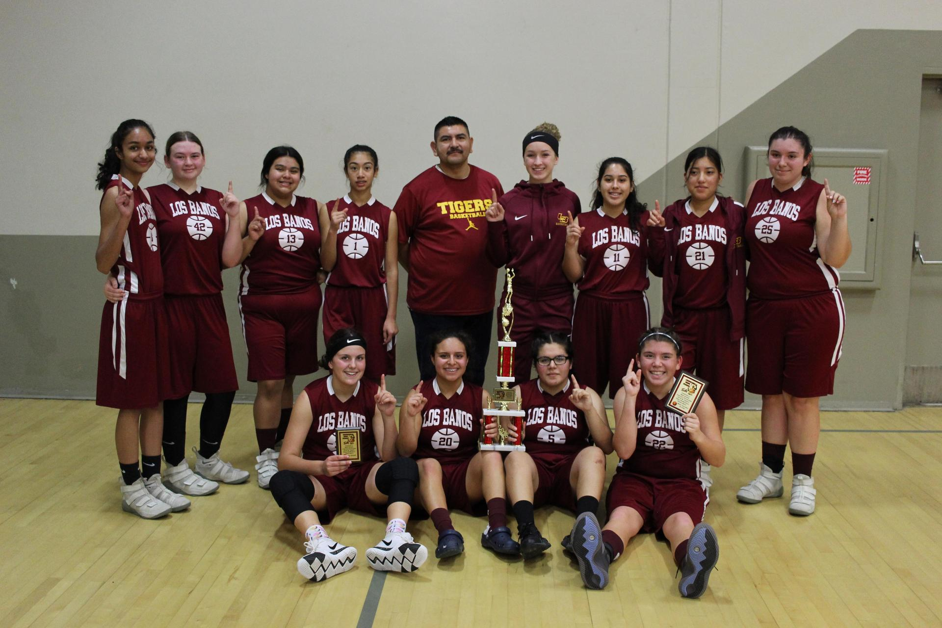 Los Banos Girl's Basketball -- Junior Varsity Champions