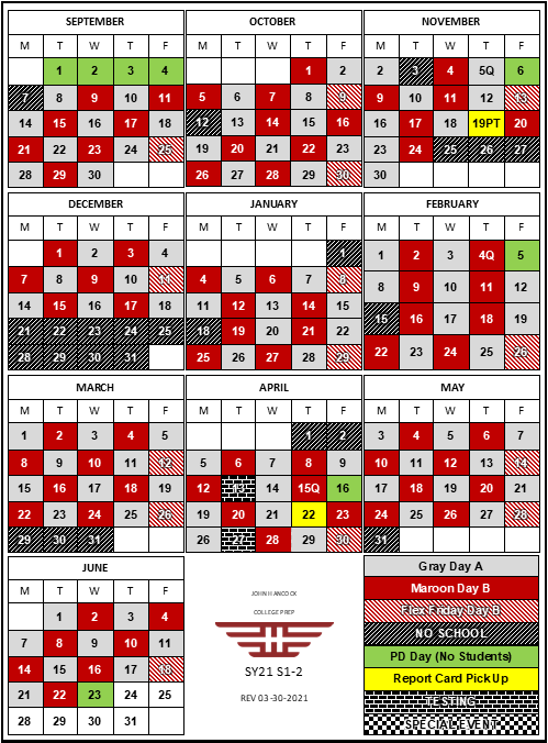 This is the A|B Bell Schedule for SY21 updated as of March 30 2021