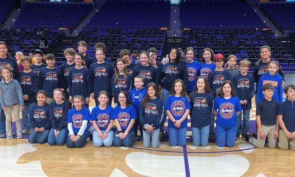Basketball/Cheerleaders at LSU Game