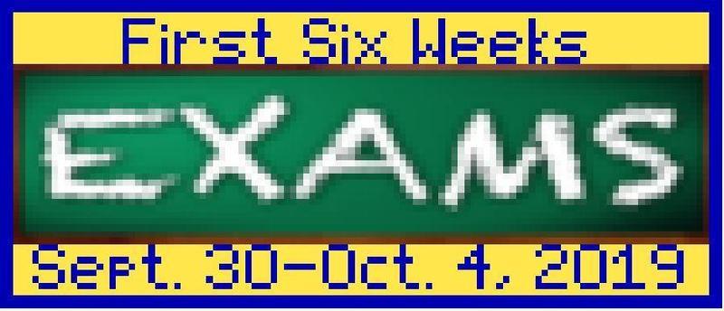 First Six Weeks Exams Thumbnail Image