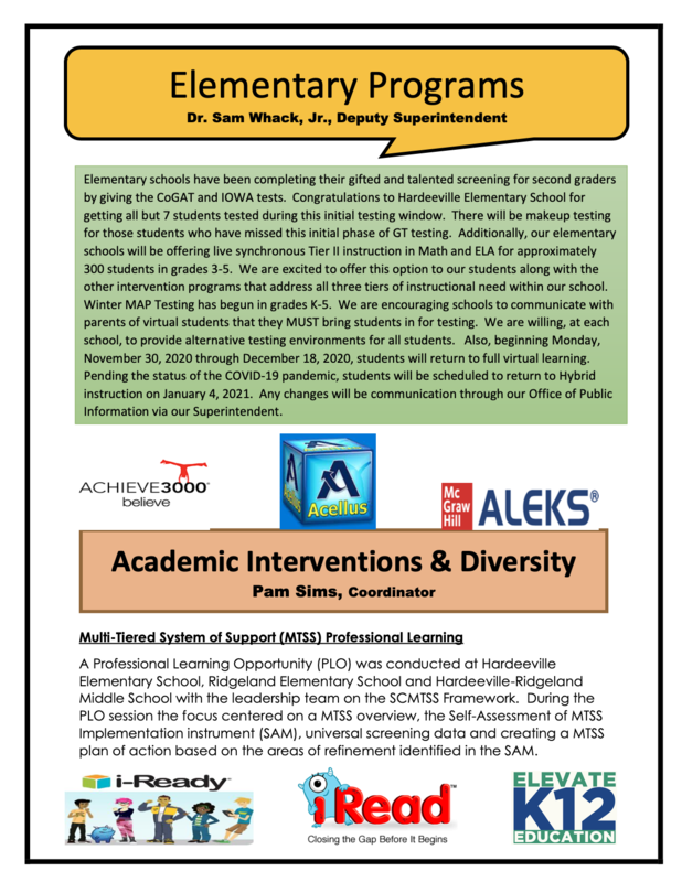 Please read the Office Of Instructional Services November Newsletter