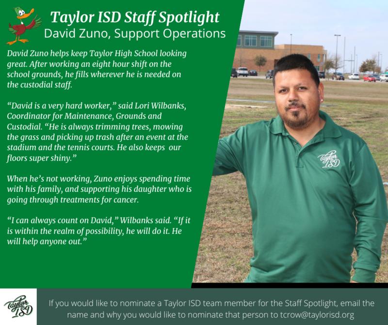 Staff Spotlight, David Zuno