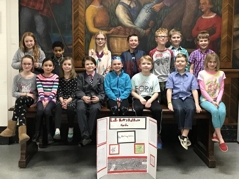 Lake Bluff 3rd Graders and their Rain Garden Project