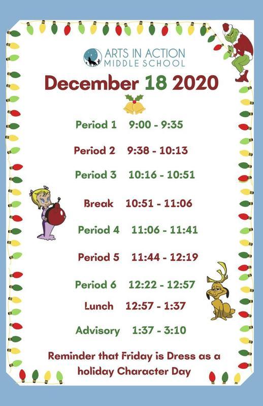 Middle School modified schedule/ Horario modificado de la escuela secundaria Thumbnail Image