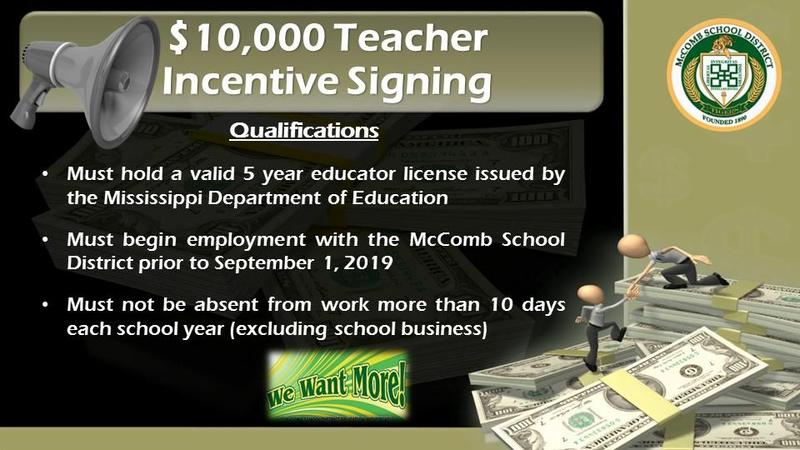 Teacher Incentive Flyer 2019
