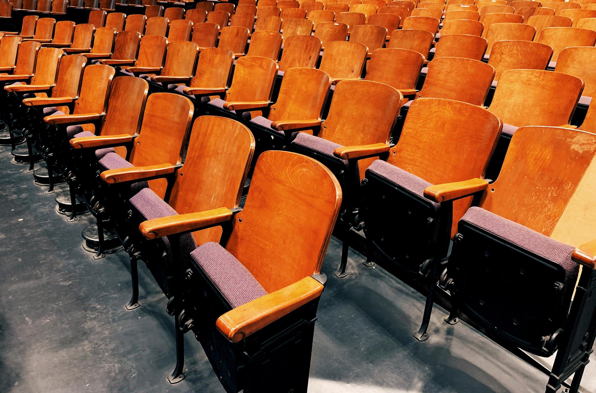 image of empty auditorium theatre seats