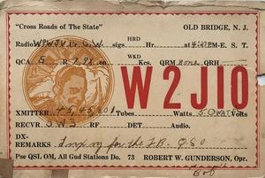 Image of his radio licence