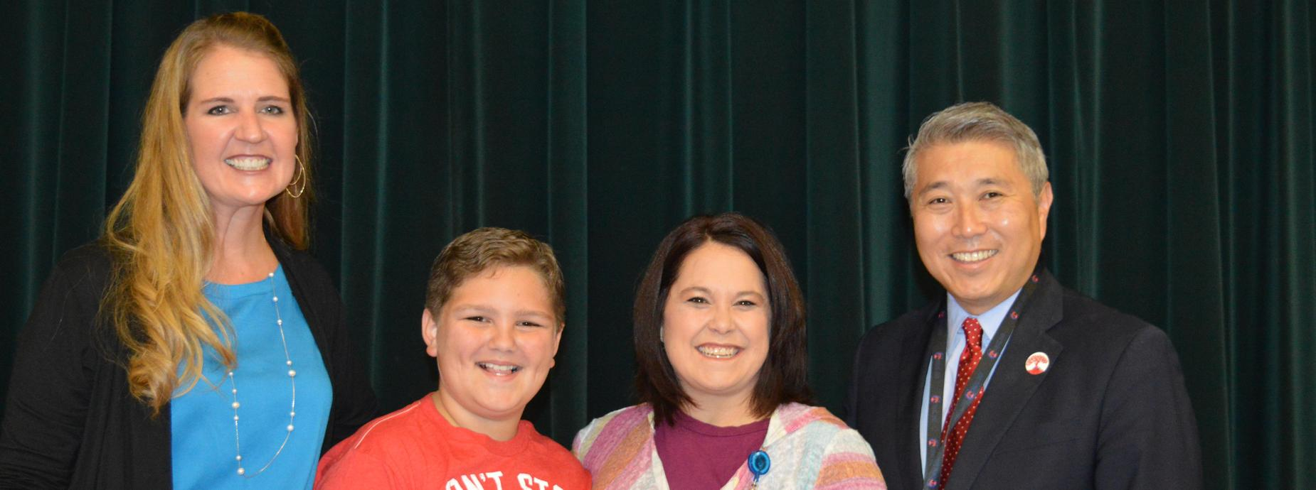 Mrs. Durst, Rishanne and Rylan Frech and Mr. Kim