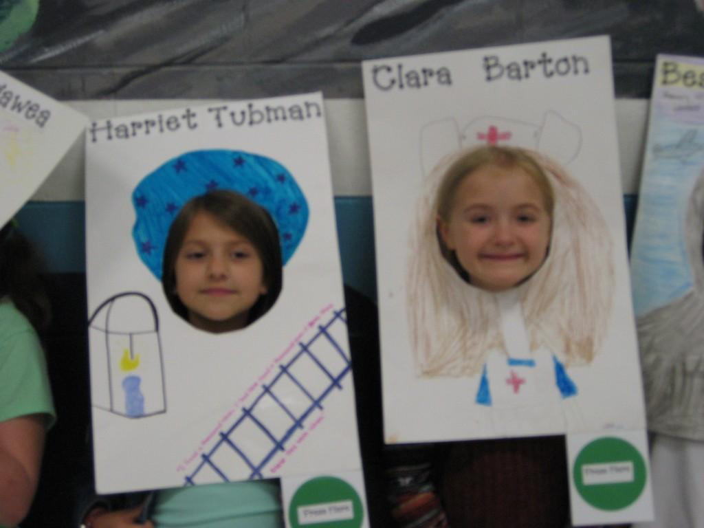 Wax Museum-Harriet Tubman and Clara Barton