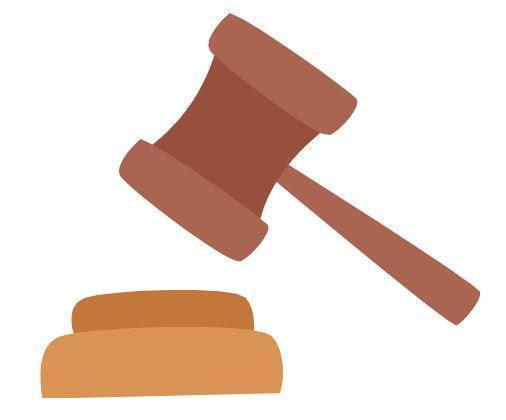 brown judge's gavel
