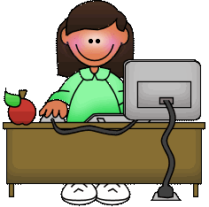 Image of teacher at desk