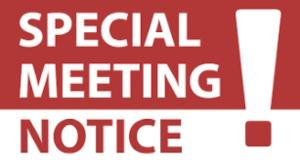 special meeting notice