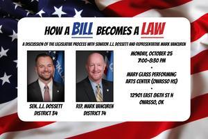 How a Bill Becomes a Law with Senator JJ Dossett and Representative Mark Vancuren
