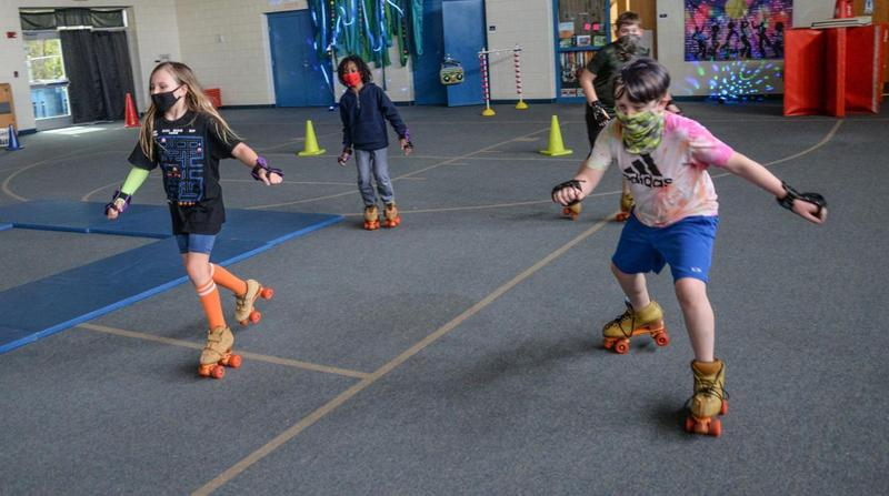 Students at Sterling Elementary skated last week during the final week of a unique educational experience.