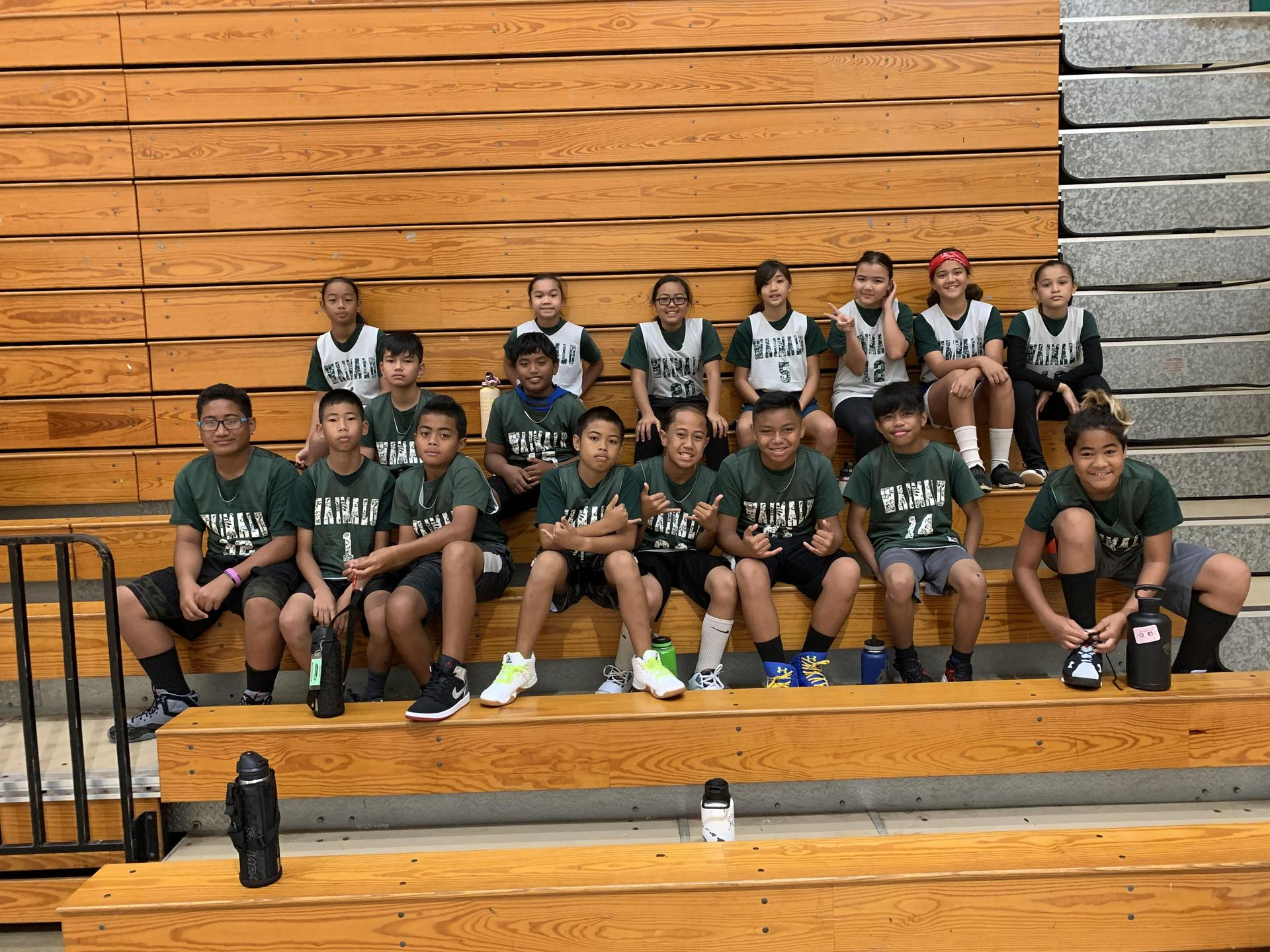 Photo of the basketball team, school year 2019-20.