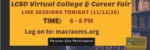 LCSD Virtual College & Career Fair Graphic