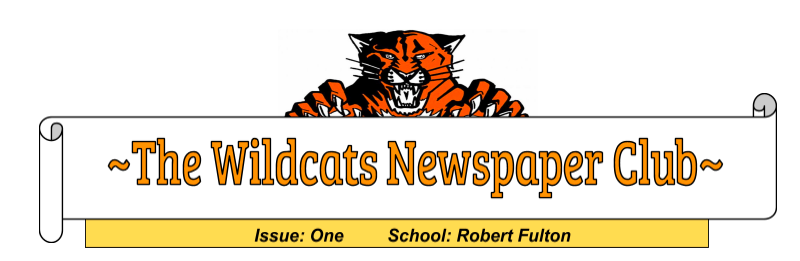 Robert Fulton's Wildcats Newspaper-Read the First Issue of the Year Featured Photo