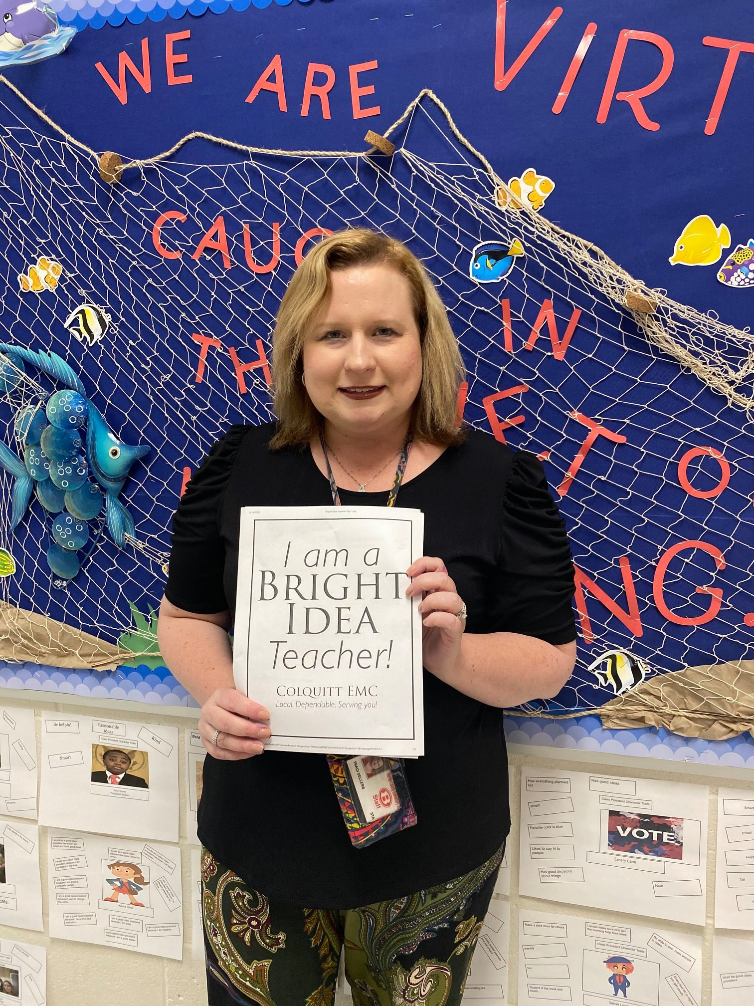 "Please join us in congratulating Traci Sellers, winner of the 2020 Bright Ideas Grant! Traci earned a Bright Ideas Grant for her winning project ""Bringing the Engineering Design Process to Life Using a 3D Printer."" Traci and her students are so excited to work on the project this year."