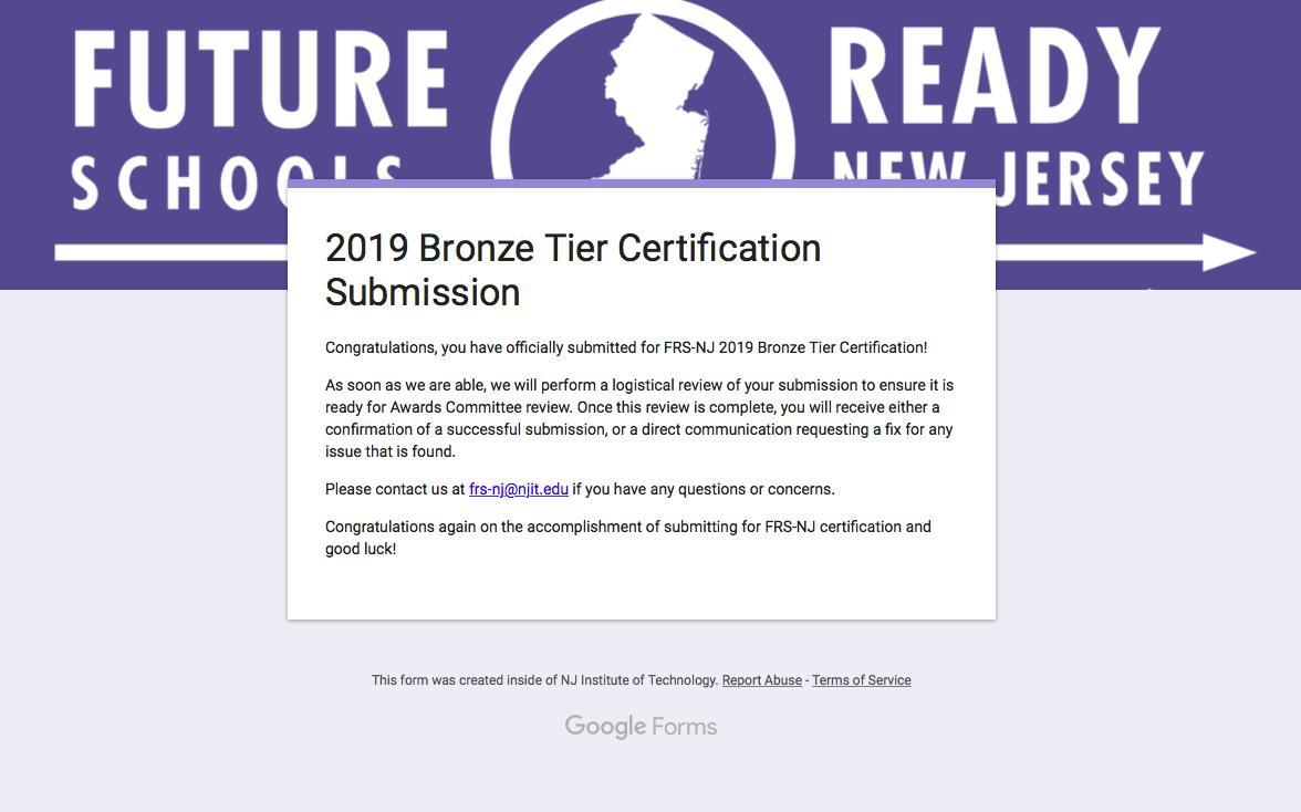 Future Ready Bronze Certification