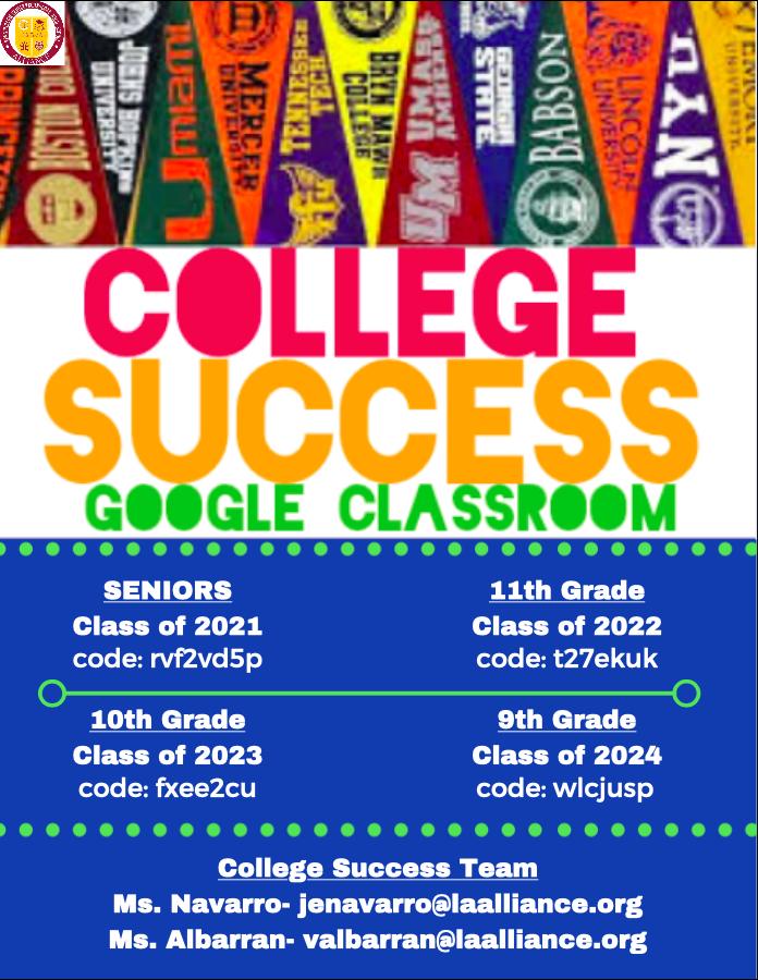 CST Google Classroom Codes