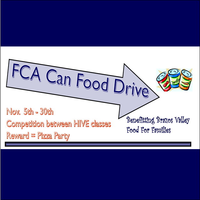 FCA Sponsored Canned Food Drive Featured Photo