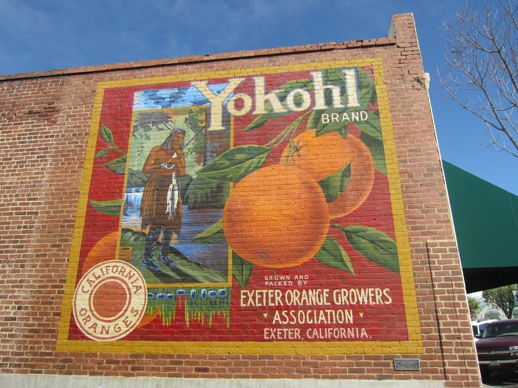City of Exeter- Yokohl Brand Label Mural