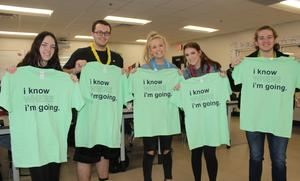 CHS seniors with Acceptance shirts