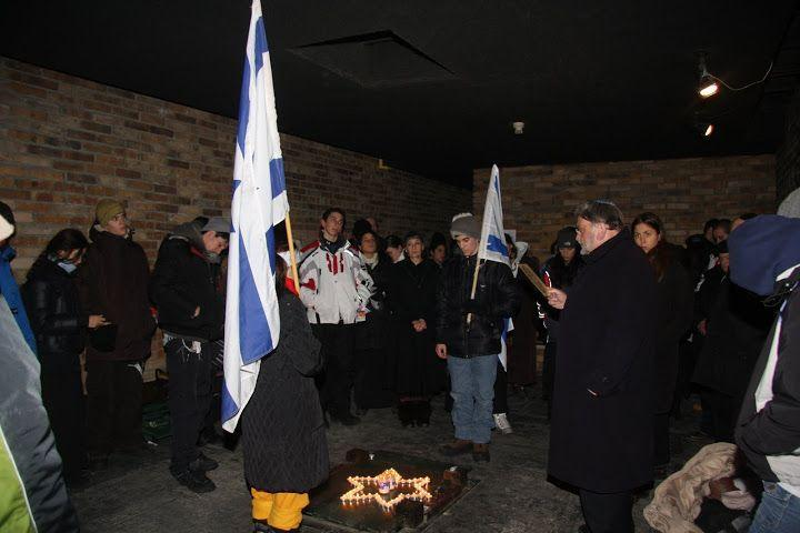 Memorial ceremony at Auschwitz